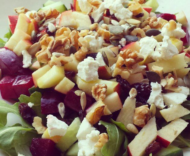 salade met appel en bietjes