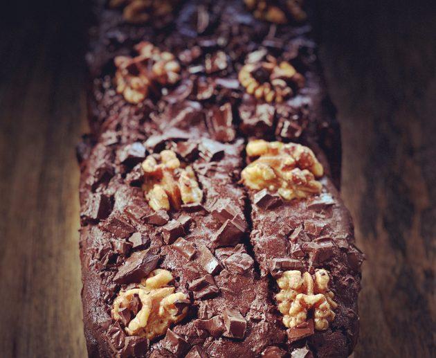 bananen brownie brood
