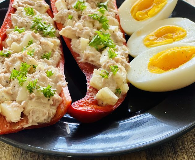 paprika met tonijnsalade