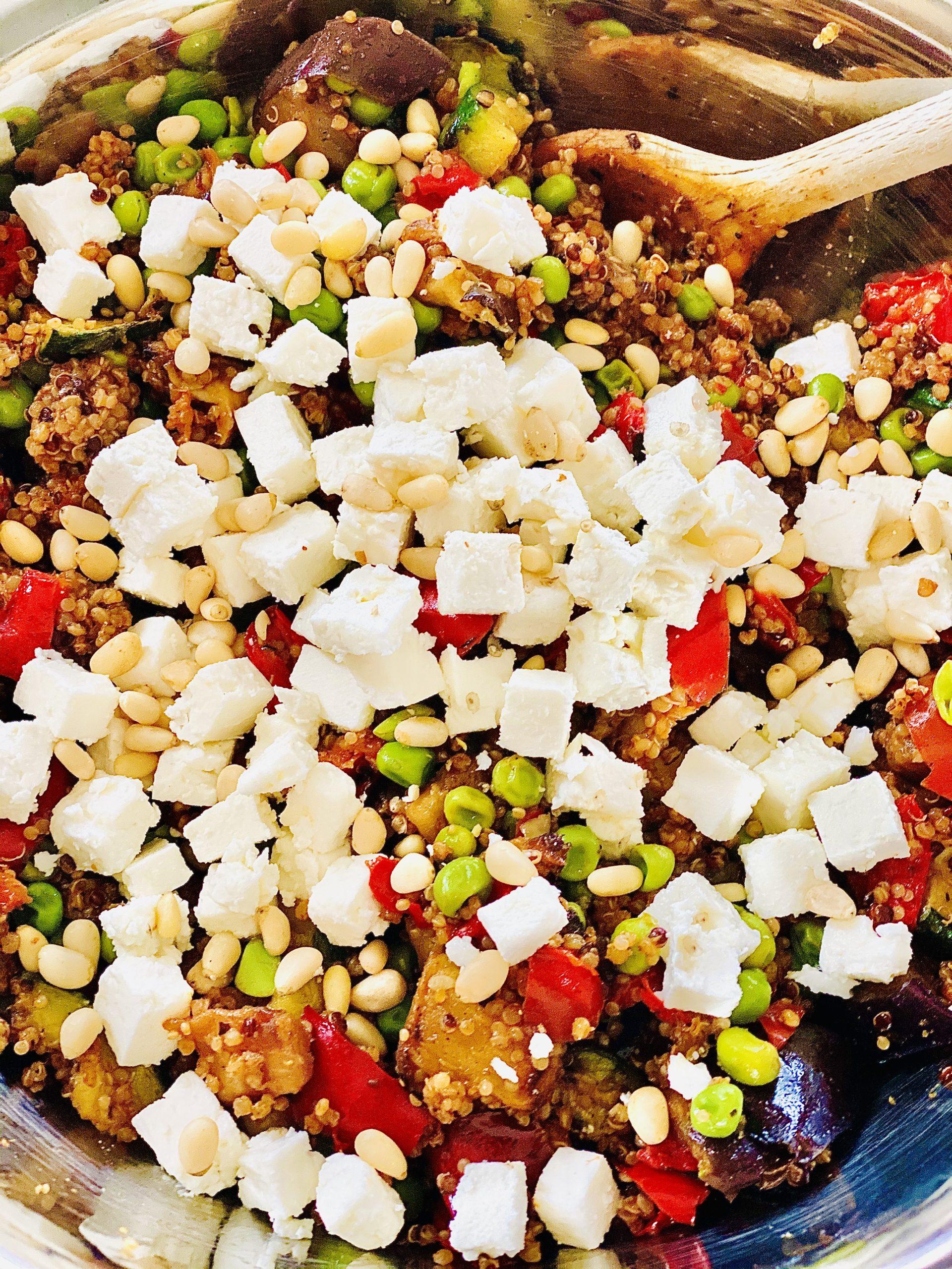 Snelle Quinoa groenten salade