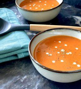 Geroosterde tomatensoep met paprika