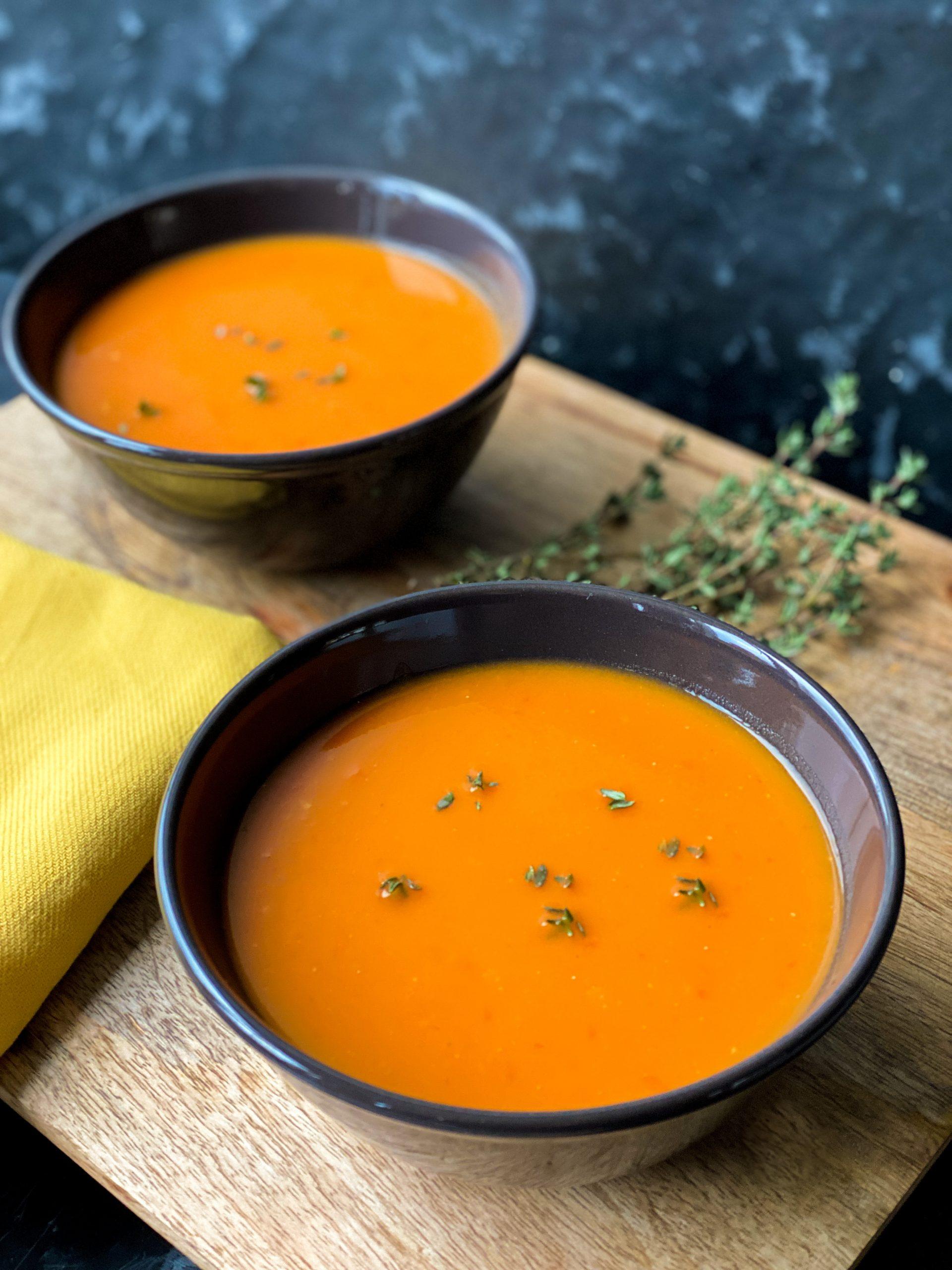 geroosterde tomaten zoete aardappelsoep