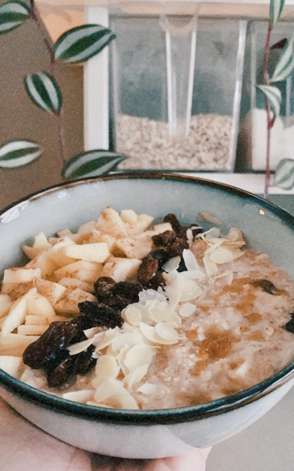 Appeltaart havermout ontbijt